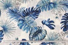 Šatovka bílá, modré listy, š.140