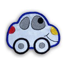 Reflexní nažehlovačka velká - modré auto