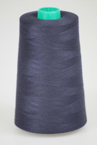 Niť KORALLI polyesterová 120, 5000Y, odtieň 5560, modrá