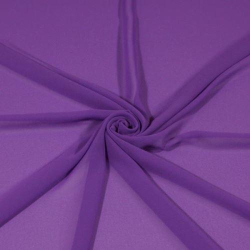 Šifon fialový BW438, š.145