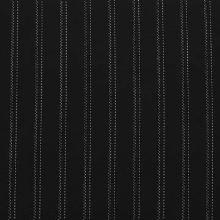 Kostýmovka čierna, biely pruh, š.145