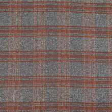 Kostýmovka šedo-hnědá, rezavé káro, š.150