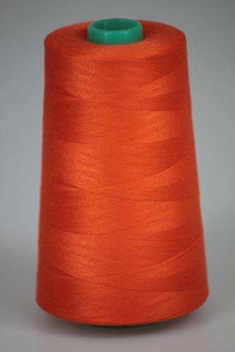 Niť KORALLI polyesterová 120, 5000Y, odtieň 2235, oranžová