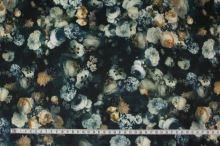Úplet tmavo zelený, kvetinový vzor š.150