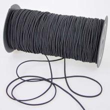 Guma klobúková čierna, šírka 3mm