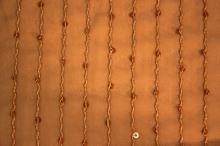 Šifón hrdzavý, výšivka s flitrami, š.150