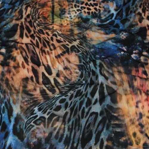 Úplet oranžovo-modrý, zvířecí vzor, š.155