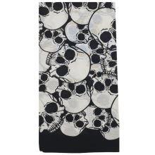 Šátek černý, vzor lebky I., 70x70cm