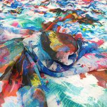 Šifon barevný 20299, abstraktní vzor, š.145