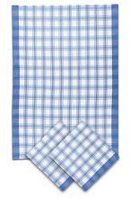 Utěrky bambusové, velká kostka modrá, 50x70 cm 3ks