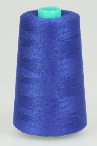 Niť KORALLI polyesterová 120, 5000Y, odtieň 5550, modrá