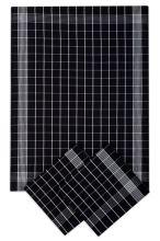 Utěrky bavlněné, negativ černo-bílá, 50x70cm, 3ks
