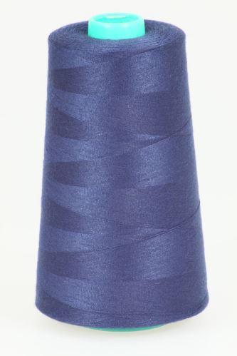 Niť KORALLI polyesterová 120, 5000Y, odtieň 5650, modrá