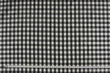 Podšívka černo-bílé káro, š.150