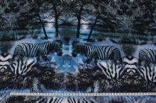 Šatovka modrá, vzor zebra, š.140
