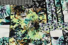 Úplet 17776 barevný, květiny a obdélníky, š.150