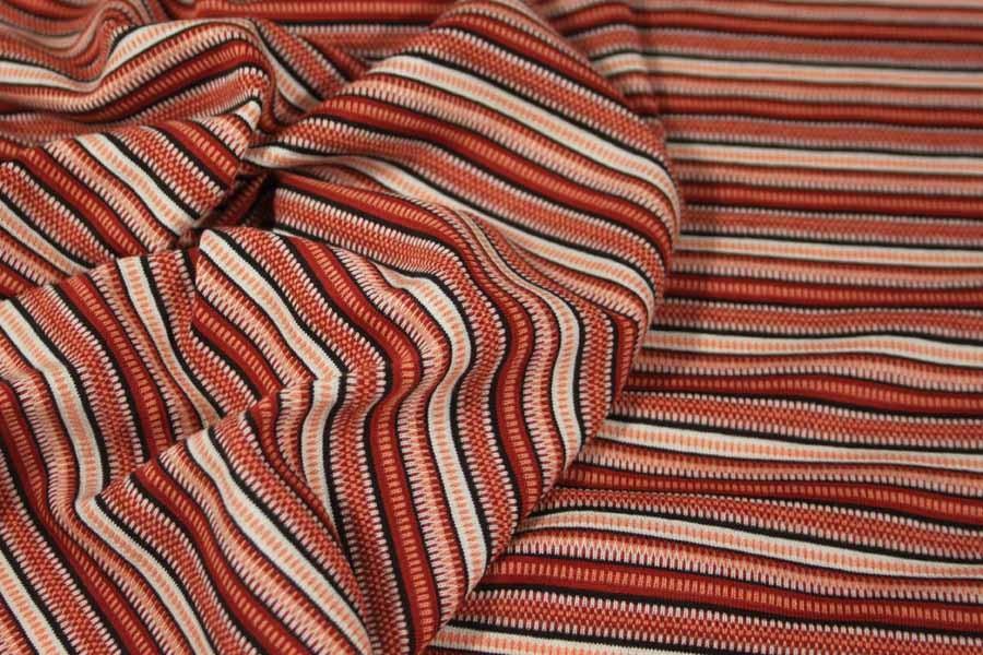 Úplet hrdzavo-lososový s prúžkami 3febba60675
