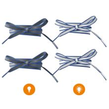 Reflexné šnúrky tmavo modré, dĺžka 120 cm