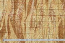 Šatovka béžová, káro a ornamenty, š.145