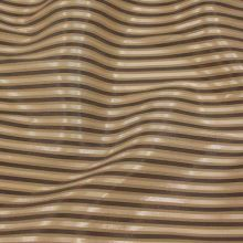 Košilovina béžová, hnědý pruh š.150