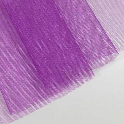 Tyl lesklý N3279, fialový š.155