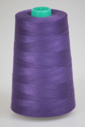 Niť KORALLI polyesterová 120, 5000Y, odtieň 4250, fialová