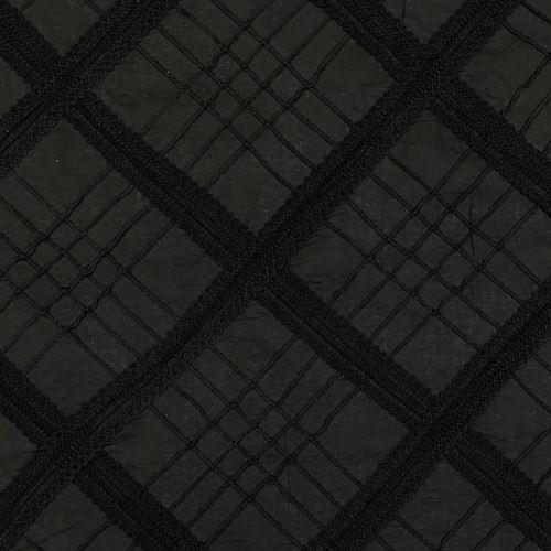 Šatovka 09682 čierna, našitá čipka, S.125