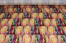 Satén farebné kocky š.145