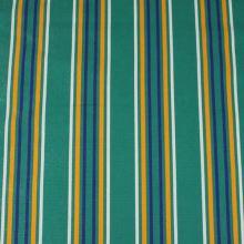 Lehátkovina zelená, barevný pruh, š.140