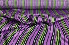 Satén 04836 fialový, barevný pruh š.150