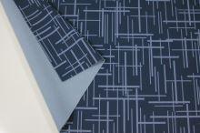 Softshell modrý, světle modrý vzor, š.145