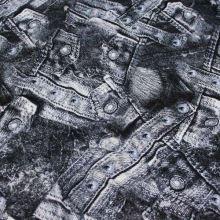 Úplet černobílý denim 15858, š.145