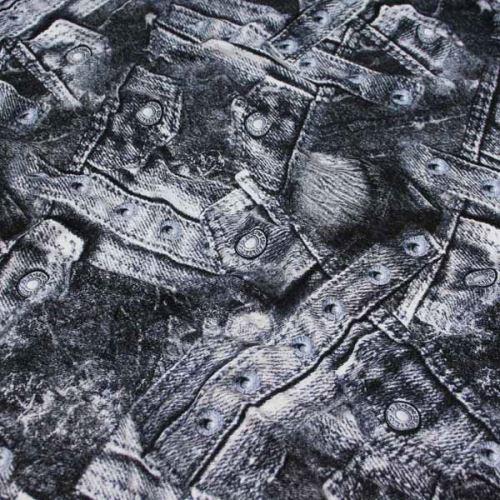 Úplet čiernobiely denim 15858, š.145