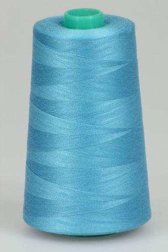 Niť KORALLI polyesterová 120, 5000Y, odtieň 5260, modrá