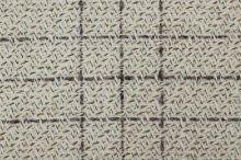 Kabátovina krémovo-béžovej káro, š.150