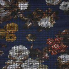 Kostýmovka modrá 15199, farebný kvet, š.150
