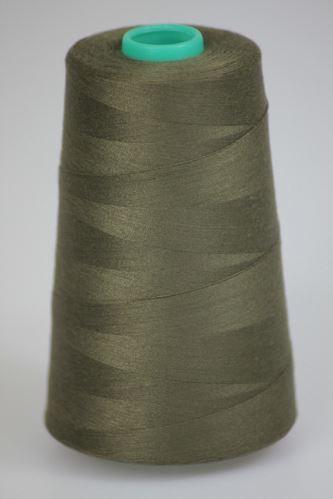 Niť KORALLI polyesterová 120, 5000Y, odtieň 6940, hnedá-zelená