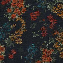 Kostýmovka čierna 15190, farebný vzor, š.150