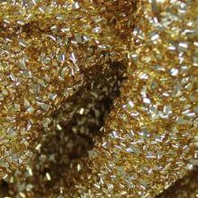 Efektní látka zlatá, š.115
