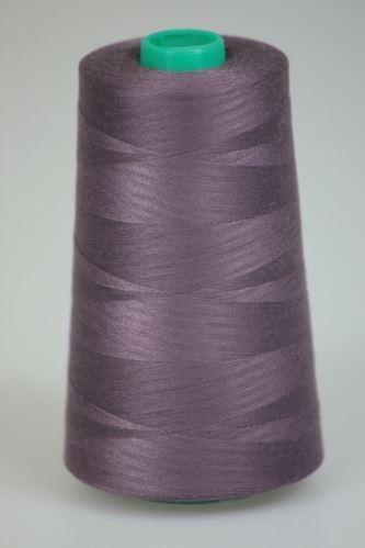 Nit KORALLI polyesterová 120, 5000Y, odstín 4455, fialová-hnědá