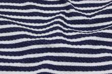 Úplet bílo-modrý tkaný pruh, š.135
