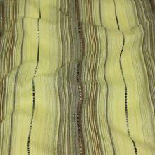 Košeľovina zelená, hnedá pruh, š.145