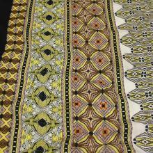 Šatovka žluto-černé etno, š.140