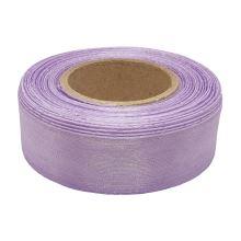 Stuha monofilová s vlascem lila, šíře 25mm, 25m