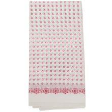 Dámský šátek bílý, růžové květy, 70x70cm