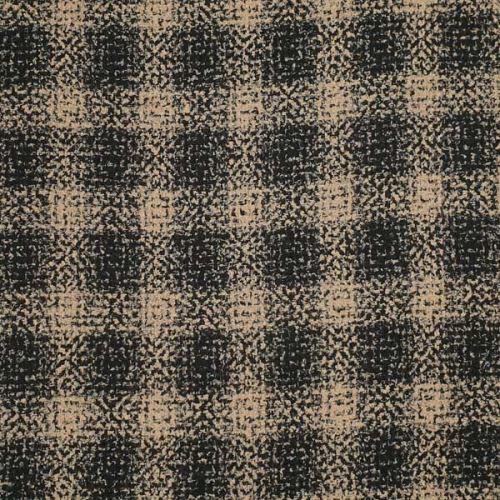 Kabátovina jesenná, béžovo-čierne káro, š.145