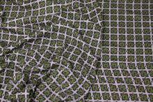 Úplet lila, zelenofialový štvorce, š.145