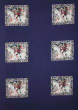 Šatovka modrá, barevný vzor š.145