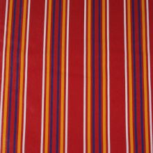 Lehátkovina červená, barevný pruh, š.45