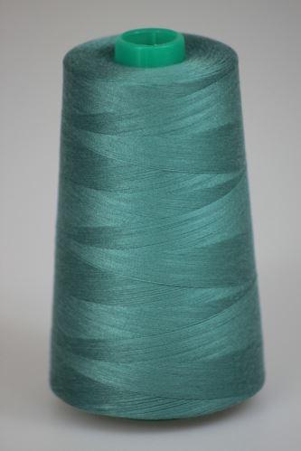 Niť KORALLI polyesterová 120, 5000Y, odtieň 6510, modrá-zelená